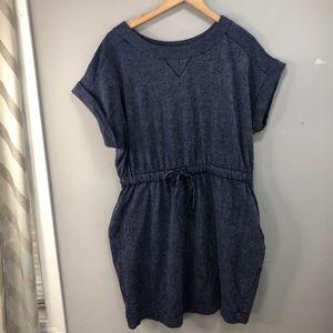 Lane Bryant Blue Knit Tie Waist Dress Sz 14/16